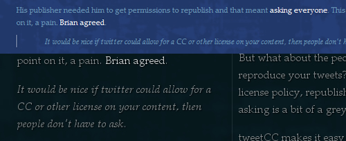 CSS columns tweetcc.com