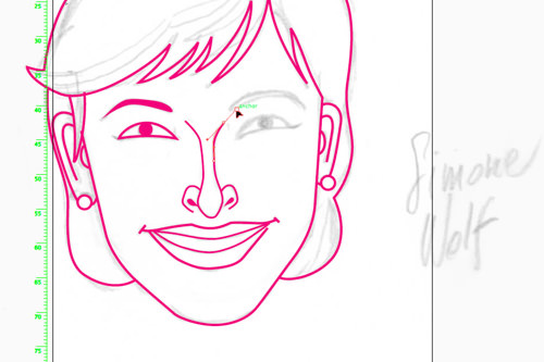 Tracing caricatures in Illustrator: same line weights for same elements (nose was 0,75 pt)