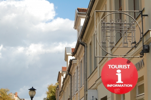 Wayfinding and Typographic Signs - tourist-information-sign