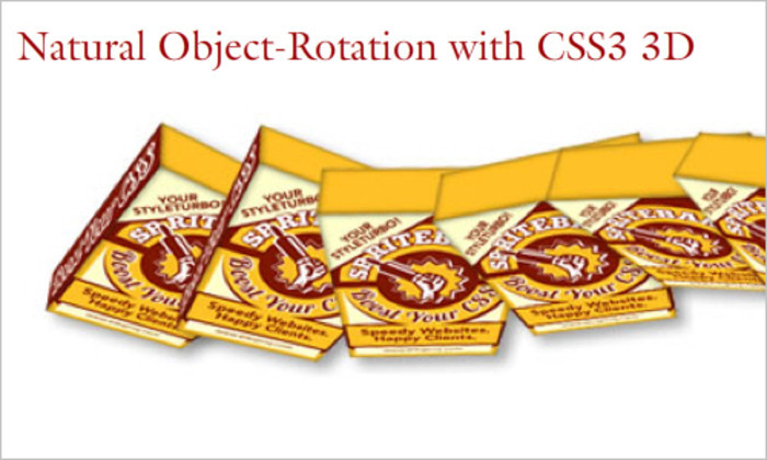 Natural Object-Rotation with CSS3 3D