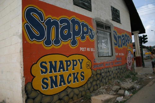 Wayfinding and Typographic Signs - snappy-snacks---post-no-bill