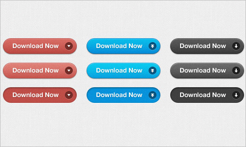 Free PSD: Simple Download Buttons