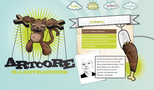 German Web Design - artcore-illustrations