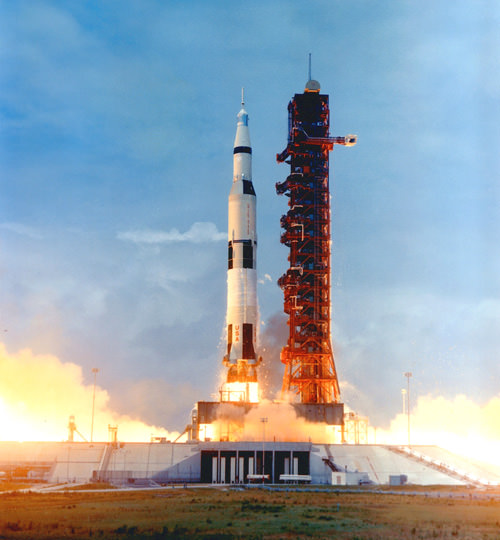 Saturn V rocket lift-off, Apollo 10.