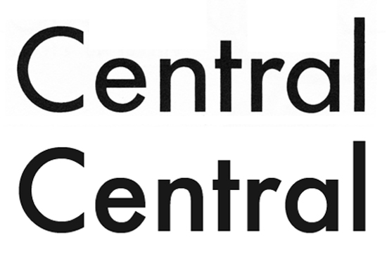 Twentieth Century (above), Lanston Monotype's response to Futura (below).
