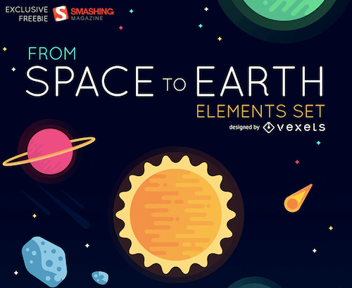 30 Adventurous Space To Earth Icons [Freebie]