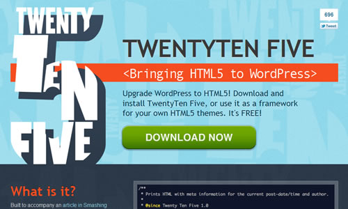 TwentyTen Five - HTML5 Theme/Framework Free WP Theme