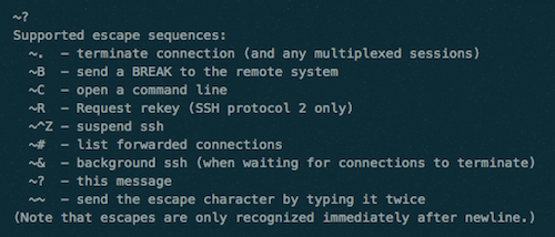 Simple shortcuts help you close a frozen SSH connection properly.