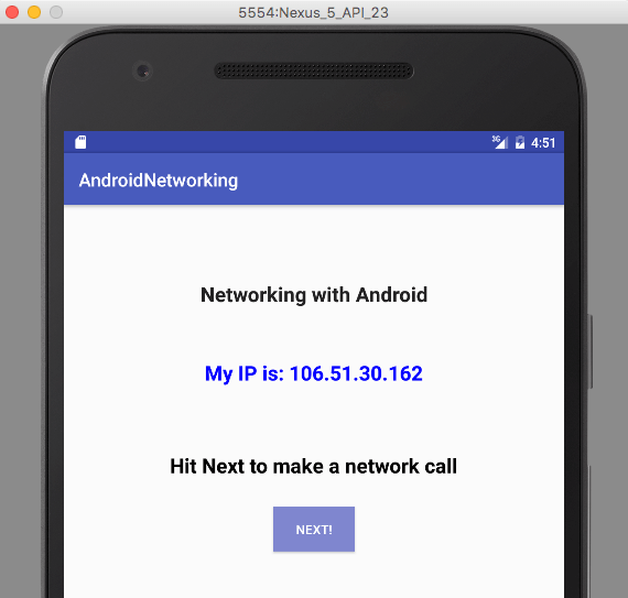 Make a network call to get my IP using Volley without blocking the UI thread