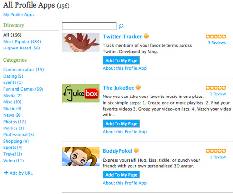 Screenshot-Open Social Applications