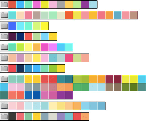 Organize your swatches into sets with colors that complement each other