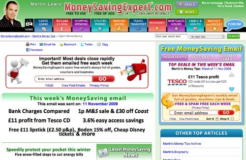 MoneySavingExpert newsletter