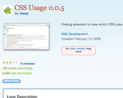 CSS Usage