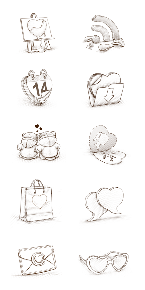 Freebie: St. Valentine's Day Icon Set