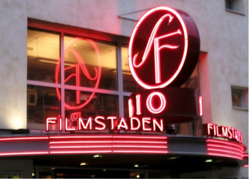 Wayfinding and Typographic Signs - movie-theater-malmo-sweden