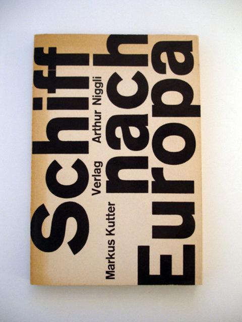 Swiss Graphic Design - Schiff nach Europa –– Markus Kutter/Karl Gerstner 1957