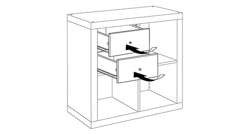 Ikea Kalax Bookcase insert
