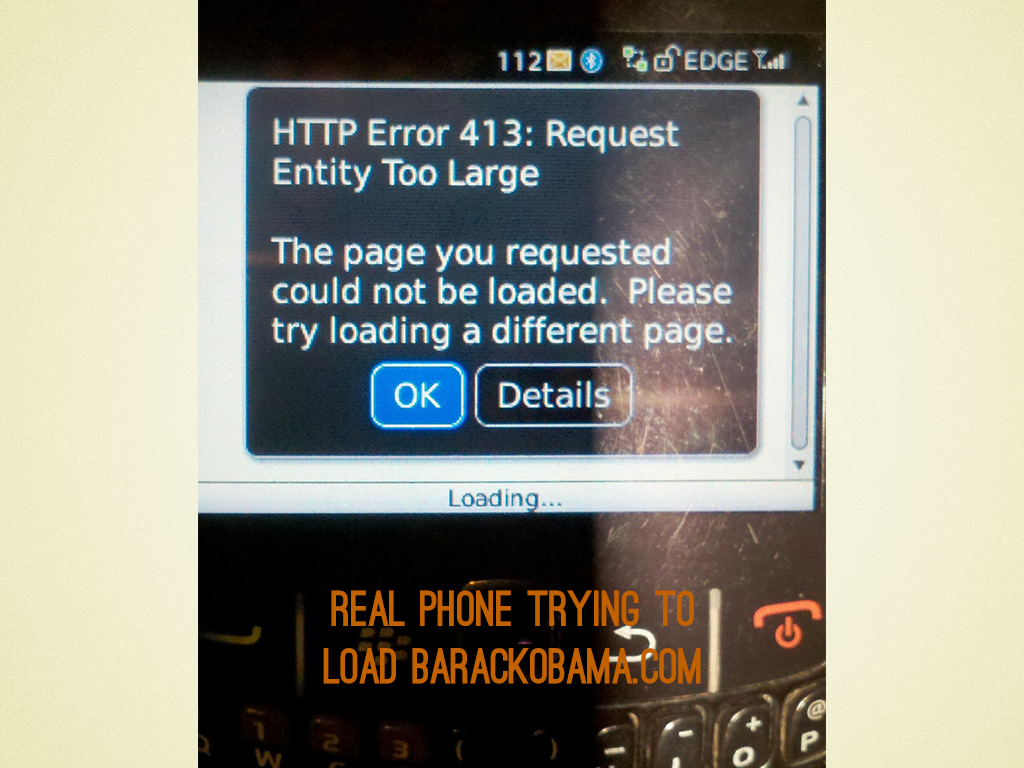 Real BlackBerry trying to load barackobama.com