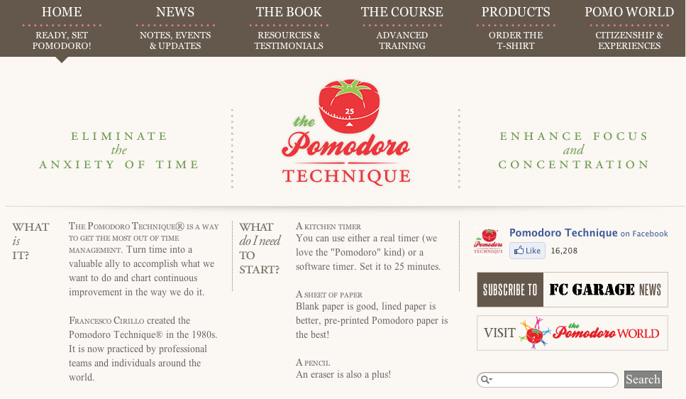The Pomodoro technique is a simple way of staying focus on the task in hand