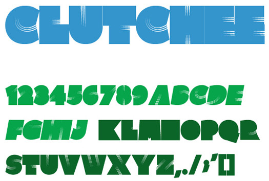 Beautiful Free Fonts - Clutchee font