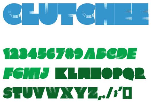 Beautiful Free Fonts - Clutchee font