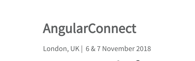 AngularConnect 2018