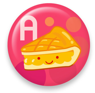 Pins, Badges and Buttons - Dessert A: Apple Pie