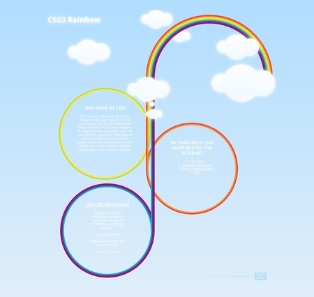 CSS3 Designs For Free Download - css3-rainbow-template