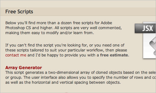Adobe Photoshop Scripts