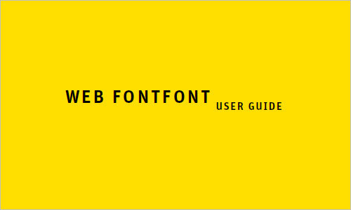 Web FontFont User Guide