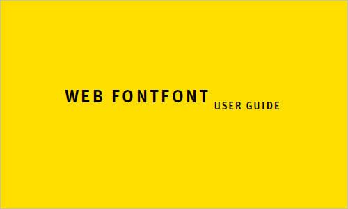 Web FontFont User Guide