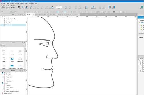 Axure 8 Pen drawing