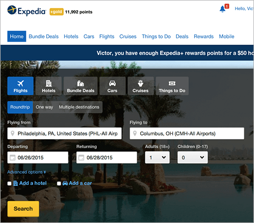 Expedia addresses naïve diversification in at least two ways