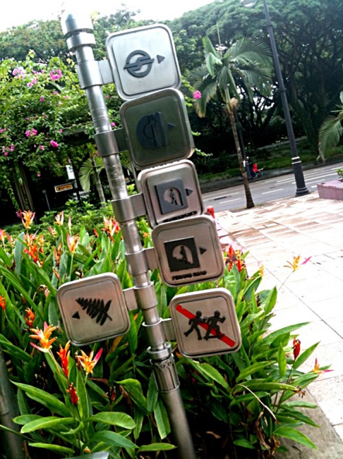 Wayfinding and Typographic Signs - symbols-at-the-park