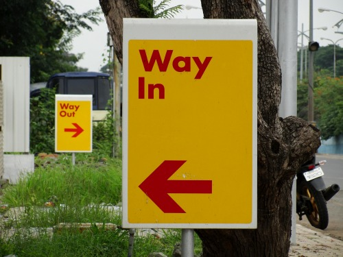 Wayfinding and Typographic Signs - choice-is-yours