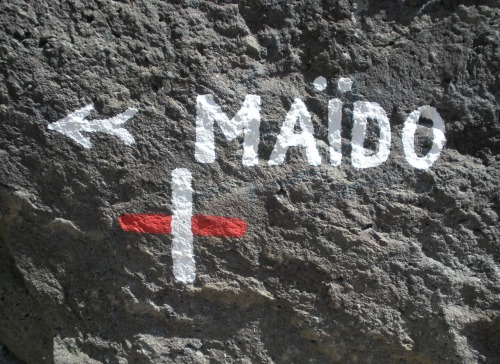 Wayfinding and Typographic Signs - mount-maidos-direction