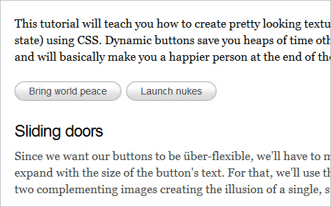 How to make sexy buttons with CSS