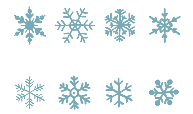 Hand-Drawn Vector Snowflakes