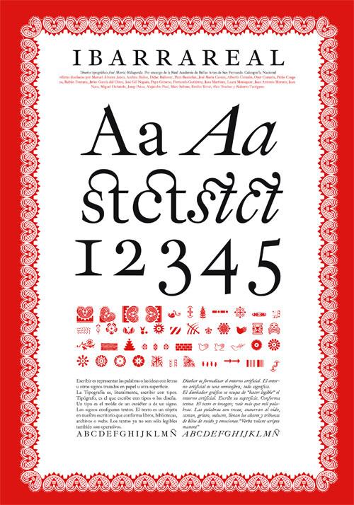Unostiposduros distribuye la tipografia Ibarra Real