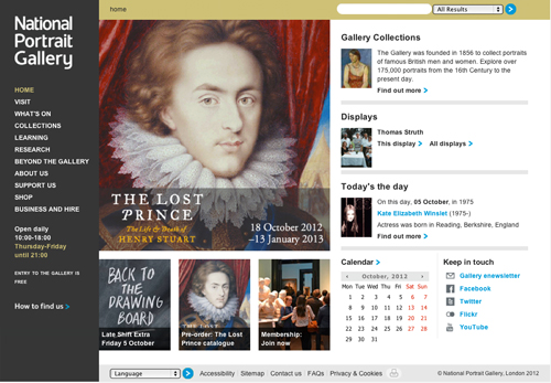 Website of the National Portrait Gallery.
