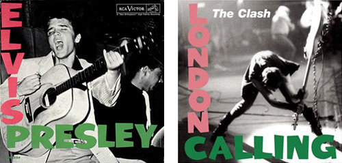 Elvis and Clash album covers