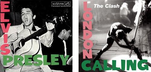 Elvis and Clash album covers
