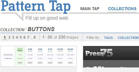 Inspirational Buttons in web design - Pattern Tap