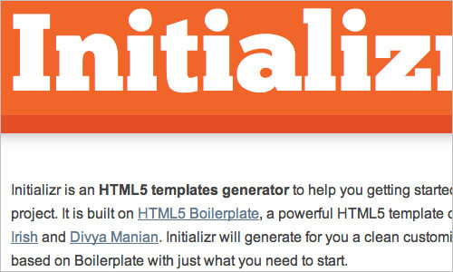 Start an HTML5 Project in Seconds