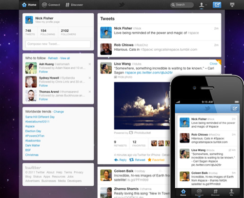 New Twitter design