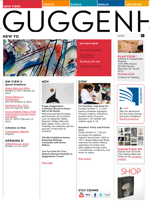 Website of Guggenheim.