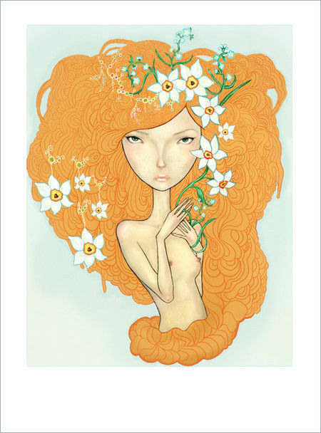 Showcase of Feminine Illustrations - Olga Ert
