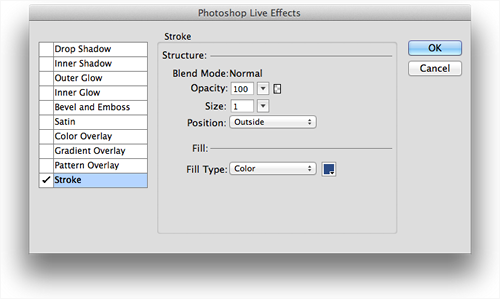 Ps Live Effects filter option instead of Fw native stroke.