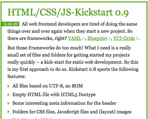 HTML/CSS/JS Kickstart