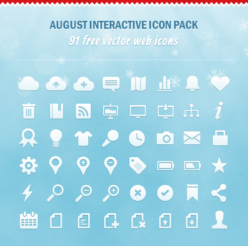91 Holiday Season Vector Icons [Freebie]